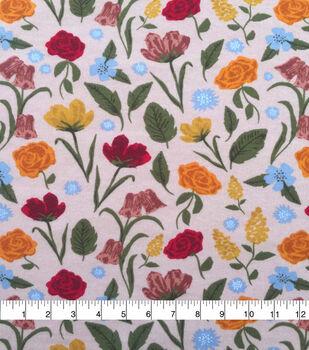 Doodles Juvenile Apparel Fabric-Light Pink Large Flowers
