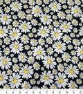 Quilter\u0027s Showcase Cotton Fabric-Daisies Black