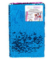 American Crafts Hello Dreamer Sequined Notebook-Mermaid, , hi-res