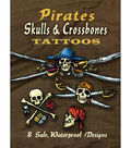 Dover Publications-Pirates Skulls & Crossbones Tattoos