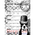 Deep Red stamps Cling Stamp ATC Prof Boston