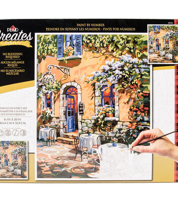 Plaid Creates Classic 16''x20'' Paint by Number Kit-French Country Cafe