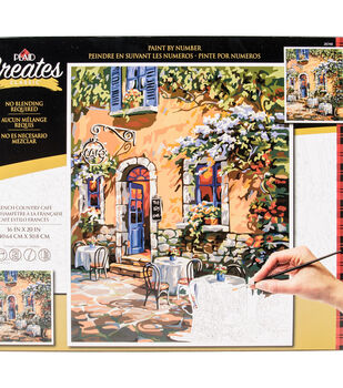 e4a0c0522 Plaid Creates Classic 16''x20'' Paint by Number Kit-French Country