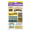I ? Metal Motivating Messages superShapes Stickers-Large 6 Packs