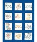 Jack Dempsey Stmpd Nursery Quilt Blocks 9\u0022X9\u0022-Puppies