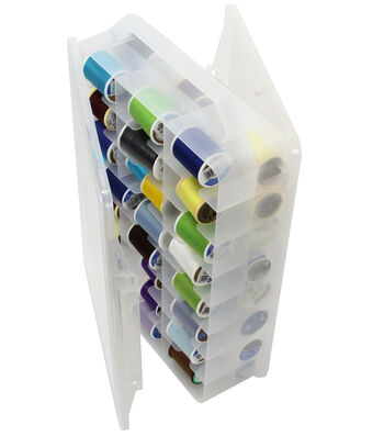 Creative Options Plastic Thread Organizer-Clear