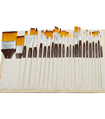 KINGART Paint Brush Library In Canvas Wrap 24/Pkg