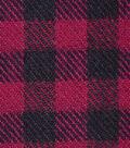Plaiditudes Brushed Cotton Fabric -Burgundy & Black Gingham