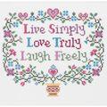 Janlynn Live, Love, Laugh Cntd X-Stitch Kit