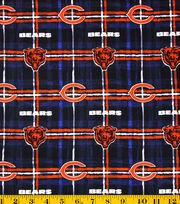 "Chicago Bears Flannel Fabric 42""-Plaid, , hi-res"