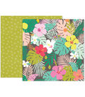 Pink Paislee Confetti Wishes 25 pk 12\u0027\u0027x12\u0027\u0027 Double-Sided Cardstock-#08