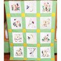 Fairway Stamped Baby Quilt Blocks Duck Baby