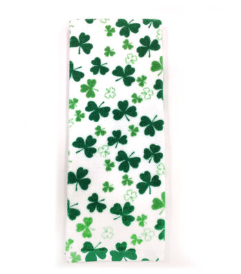 St. Patrick's Day 28''x16'' Towel-Tossed Clovers