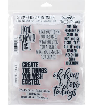 Stampers Anonymous Tim Holtz 7''x8.5'' Cling Stamps -Ponderings