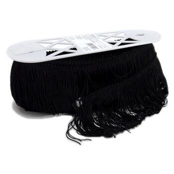 """Polyester Fringe 4"""" Wide 9 Yards-Black"""