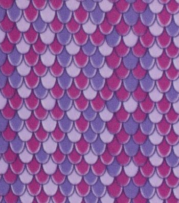 Blizzard Fleece Fabric 59''-Purple Mermaid Scales