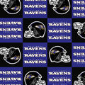 Baltimore Ravens Fleece Fabric -Block