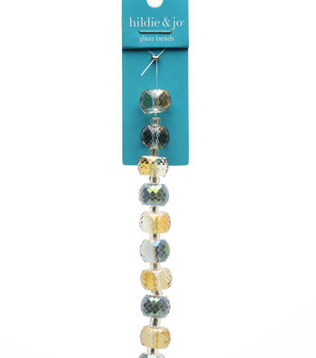 hildie & jo Strung Beads-Lsuter Glass Rondell Beads