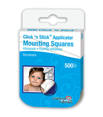 Scrapbook Adhesives Click'n Stick Mounting Squares