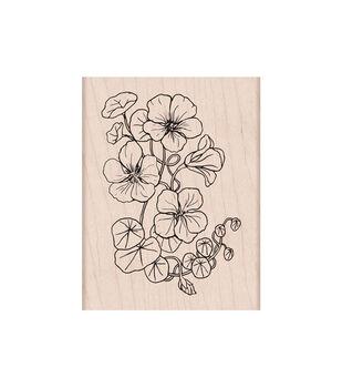 Hero Arts Mounted Rubber Stamp Flowering Nasturtium