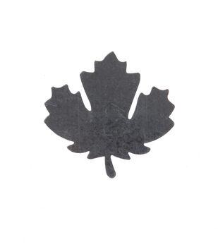 Simply Autumn Craft 3.5''x3.4'' Galvanized Oak Leaf Icon