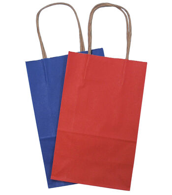 Small Red and Navy Bakers Dozen Bags