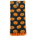 Maker\u0027s Halloween Decor Towel with Trim-Jack-o\u0027-lanterns on Black