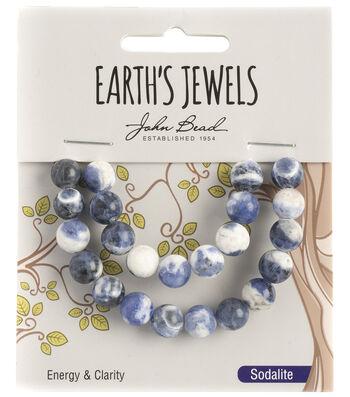 Earth's Jewels Semi-Precious Round 8mm Beads-Sodalite
