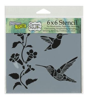 Crafter's Workshop Hummingbirds Template 6''x6''