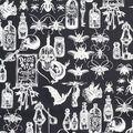 Halloween Cotton Fabric-Dark Magic On Black