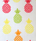 Novelty Fabric-Pineapples A/O White