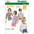 Simplicity Pattern 1364U5 16-18-20-2-Misses Tops Vests
