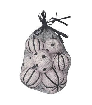 Maker's Halloween 8 pk Pumpkins in Bag-Black & White