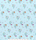 Nursery Flannel Fabric -Bright Owl