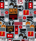 Snuggle Flannel Fabric-Game On, Level Up