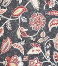 Premium Quilt Cotton Fabric-Red Medallion On Black
