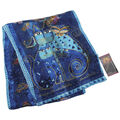 Laurel Burch Scarves-Indigo Cats with Sequins