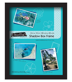 Collector's Museum Shadow Box Frame 8''x10''-Omega Black