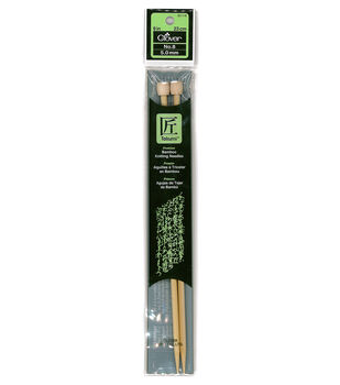 "Clover Bamboo Single Point Knitting Needles 9""-Size 8"