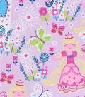 Snuggle Flannel Fabric -Long Blonde Princess