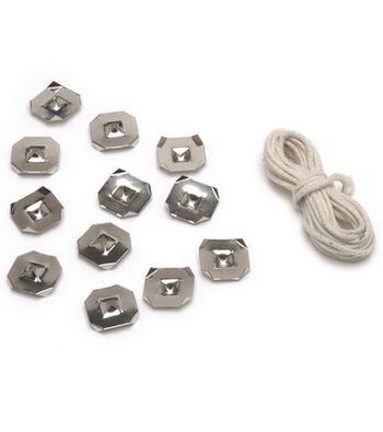 Wick & Anchors For Gelly Candle 12 Anchors/9 Wicks