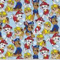 Nick Junior Paw Patrol Cotton Fabric 44\u0022-Packed on Blue