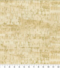Keepsake Calico Cotton Fabric-Tan Metallic Cork