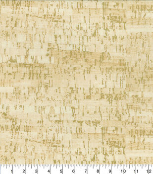 Keepsake Calico Cotton Fabric-Tan Metallic Cork