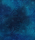 Snuggle Flannel Fabric -Blue Watercolor Stamp