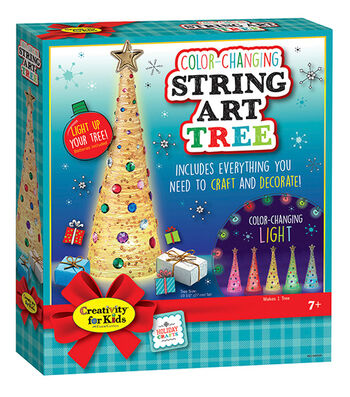 Creativity for Kids String Art Tree