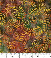 Legacy Studio Indonesian Batiks Cotton Fabric -Forest Scrolls, , hi-res