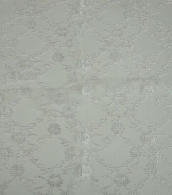 Glitterbug Fabric-Lace White