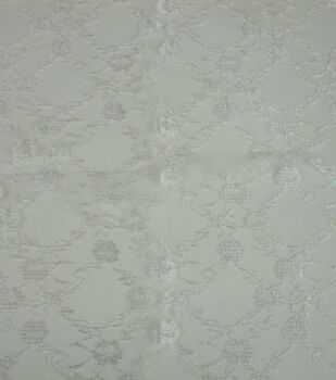 Glitterbug Fabric-Lace White
