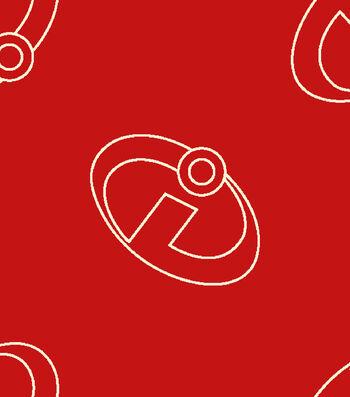 Disney Incredibles 2 Cotton Fabric 43''-Logo